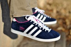Womens Adidas Gazelle Navy And Pink