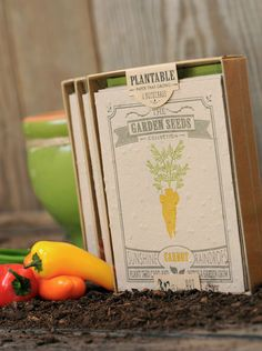 Plantable Letterpress Greeting Cards by Ruff House Art | Paper Crave
