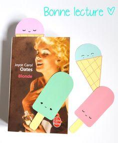 """Gabulle in Wonderland: Marque pages """"icecreams"""" pour votre roman de l'été"""