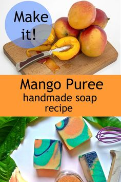 Get a great recipe for Cold Processed soaps that uses mango puree. Fantastic on the skin. Essential Oils For Colds, Making Essential Oils, Vegetable Stand, Vegetable Puree, Diy Soaps, Homemade Soaps, Cold Press Soap Recipes, Handmade Soap Recipes, Mango Puree