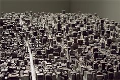 """""""Type City"""", a city build with metal type. So clever and amazing. By Hong Seon Jang."""