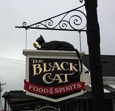 THE BLACK CAT PUB Old Pub, Cat Signs, Business Signs, Advertising Signs, Street Signs, Hanging Signs, Shop Signs, Beautiful, Black Cats