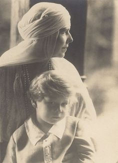 Michael I of Romania and his paternal grandmother, Queen Marie of Romania. Romanian Royal Family, Greek Royal Family, Michael I Of Romania, History Of Romania, Royal Families Of Europe, Women In History, Queen Victoria, Vintage Photographs, Vintage Photos