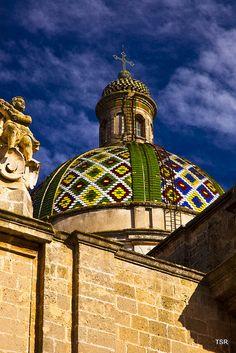 Tiled dome in Oria, Apulia, Italy