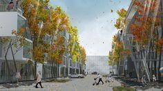 (Quelle: Ferdinand Ludwig, (c) Ludwig, Schoenle, Beller / LUBW) Green Technology, Landscape Architecture, Street View, Ferdinand, Model, Painting, Autumn, Type, Architecture