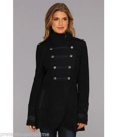 Rare-FREE-PEOPLE-SARGENT-PEPPER-Waist-LENGTH-WOOL-PEACOAT-SNAP-JACKET-FRONT-2