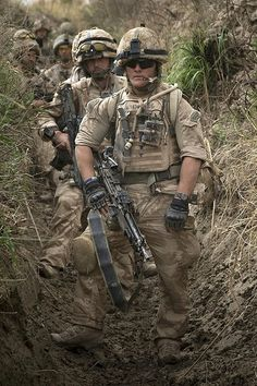 Royal Marines of 42 Commando during Operation Blue Sword in Helmand province, 2009.