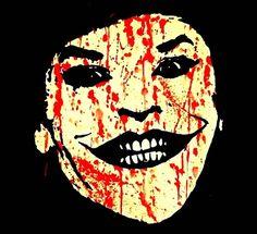 Jack Nicholson Joker watercolor splatter Art Print