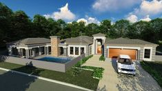 5 Bedroom House Plan – My Building Plans South Africa Split Level House Plans, Square House Plans, Metal House Plans, My House Plans, House Floor Plans, My Building, Building Plans, House Plans South Africa, 5 Bedroom House Plans