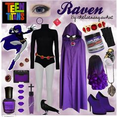 A fashion look from June 2015 featuring Boutique de la Femme sweaters, Joseph leggings e Shoes of Prey shoes. Browse and shop related looks. Raven Halloween Costume, Halloween Outfits, Casual Cosplay, Cosplay Outfits, Teen Titans Go Costume, Raven Teen Titans Go, Shirts For Teens, Teen Shirts, Fantasias Halloween