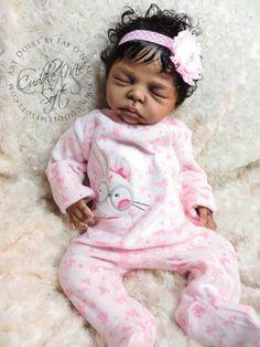 AA / Biracial Reborn Baby Girl for sale - Zinny by Marita Winters