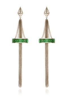 Chandelier Earrings In White Gold & Emerald Set by TOMASZ DONOCIK for…