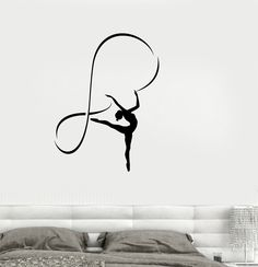Vinyl Decal Gymnastics Sports Girl Room Dancing Woman Wall Stickers (ig2665)