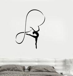 Vinyl Decal Gymnastics Sports Girl Room Dancing Woman Wall Stickers (ig2665)