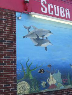 Mural on side of UnitedDivers.com