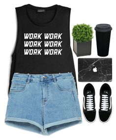"""""""-"""" by emilypondng ❤ liked on Polyvore featuring Zara, Vans and Distinctive Designs"""