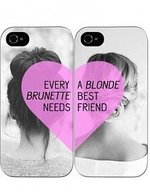 BEST FRIENDS FOREVER - HARD CASE - IPHONE 4 / 4S HOESJES