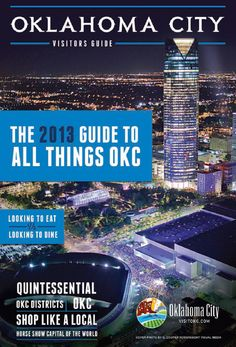 @Visit OKC's 2013 Oklahoma City Visitors Guide.  Come explore the possibilities in Oklahoma City. Located in the heart of the state, Oklahoma City's western charm and lively atmosphere create the perfect backdrop for your next vacation. Whether it's arts and culture that capture your heart, or cheering for the home team, you can create the perfect experience in Oklahoma City.