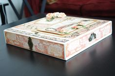 Graphic 45 A ladies Diary matchbook box  by Emma Weslowsky