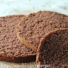 米粉ココアスポンジケーキ/直径18㎝|レシピブログ