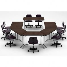TeamWORK Tables Color Java Conference Tables Meeting Tables Seminar Tables Compact Space Maximum Collaboration 3895 - The Home Depot Modular Table, Modular Furniture, Business Furniture, Home Office Furniture, Half Round Table, Modern Tabletop, Meeting Table, Conference Table, Chair Cushions