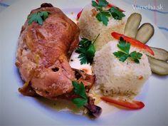 Údené kuracie stehná na víne v pomalom hrnci - Recept Chicken, Meat, Food, Essen, Meals, Yemek, Eten, Cubs
