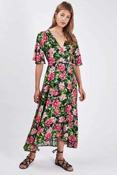 **Hawaii Floral Wrap Dress by Nobody's Child