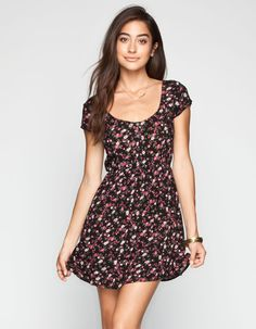 SOCIALITE Henley Skater Dress 245712149   Short Dresses