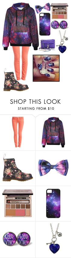 """""""Galaxy"""" by i-found-wonderland ❤ liked on Polyvore featuring 7 For All Mankind, Dr. Martens, Urban Decay, Charming Life and Rebecca Minkoff"""