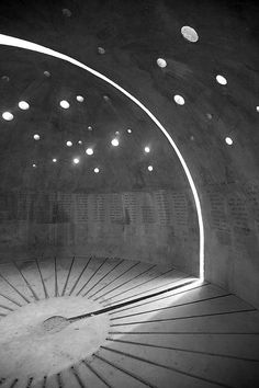 gasoline-station: Concrete Israel VII , 2014 by Hans Otto Rathenow Architecture Tumblr, Space Architecture, Amazing Architecture, Shadow Pictures, Artistic Installation, Studios, Light And Space, Mural Art, Retro Futurism
