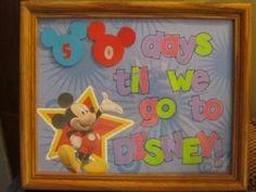 Countdown to Disney - Make it yourself project disney calendar, disneyland trip, disney trip, disney fixx, countdown idea, disney vacat, disney freak, disney diy, disney plan