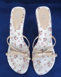 7f4daf407b BAKERS Jaeda Floral High Heel Slip On Sandal Shoes SIZE 8 B Color Neutral  Vegan