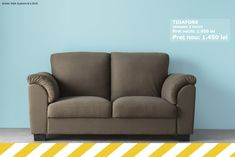 Canapeaua TIDAFORS are dimensiunile potrivite pentru a nu încărca spațiul din cameră și în același timp oferă un loc numai bun pentru oaspeți. Până pe 19 august o găsești în magazin la un preț redus.   TIDAFORS canapea 2 locuri Preț vechi: 1.950 lei Preț nou: 1.450 lei  Produsele sunt disponibile în limita stocului. 19 August, Love Seat, Ikea, Couch, Modern, Furniture, Home Decor, Settee, Trendy Tree
