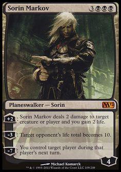 Sorin Markov - Magic the Gathering Mythic Rare Card vampire planeswalker