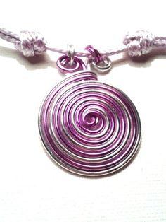 PULSERA o GARGANTILLA Espiral Bicolor a elegir colores alambre aluminio, cuero 37ebieyk (Joyería Artesanal) en Preciolandia España: EUR 2,75 (37ebieyk)