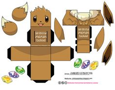EEVEE - POKEMON by animepapertoys, via Flickr