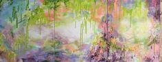 Green Dream Wisteria Abstraction- Modern Art