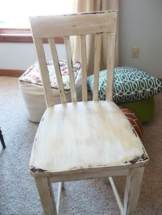 painted distressed wooden chair antiquing wood furniture