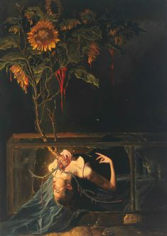 Gail Potocki (born in Detroit, Michigan, U.S.) is an award-winning Symbolist artist utilizing the skills and techniques of the Old Masters in the century. Art And Illustration, Illustrations, Illustrator Design, Art Ancien, Art Japonais, Wow Art, Classical Art, Fine Art, Renaissance Art