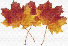 Cross Stitch | Maple Leaves xstitch Chart | Design