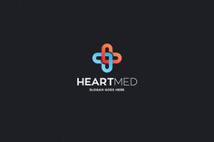 Heart Med Logo Template by Rudy-design on @creativemarket
