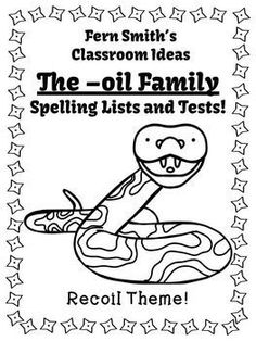 Spelling The -oil Family Word Work Lists and Tests  #TPT $Paid