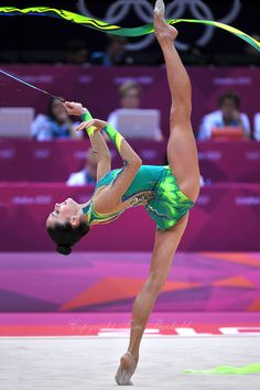 August 10, 2012; London, Great Britain; NETA RIVKIN of Israel performs with ribbon during during day 2 qualifying.