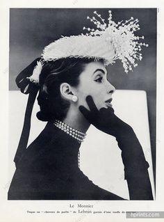 Le Monnier (Millinery) 1946 Fashion Photography Hat, Eugène Rubin The Monnier (Millinery) 1946 Fashi Vintage Glamour, Vintage Beauty, Vintage Ladies, Vintage Hats, Vintage Ideas, Vintage Purses, Vintage Vogue, Dress Vintage, Vintage Fashion Photography