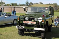 Australian Military Police Land Rover