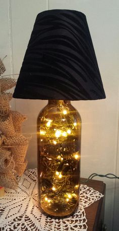 """Terrible"" beer bottle light https://www.etsy.com/listing/176886759/a-terrible-wine-bottle-light-with-black"