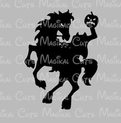 Headless Horseman SVG Studio EPS And JPEG Digital Downloads Magikal Cuts