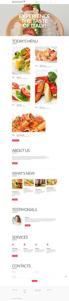 Template 57641 - Cafe Restaurant  Responsive Website Template