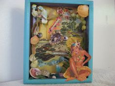 Art Collage Assemblage Shadow box