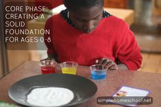 Core Phase- Creating a solid foundation for ages 0-8  Thomas Jefferson education info and resources. Love!